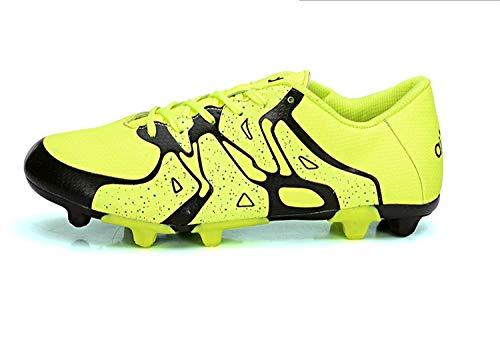 Scarpe da Calcio per Bambini da Uomo e da Donna Scarpe da Calcio con Punte Antiscivolo Scarpe Sportive all'aperto Scarpe da Allenamento Giallo 37