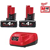 Milwaukee Starter Set 12 V 4933459211 m12nrg de 402 2 x 12 V/4,0ah Ion de litio, 1 unidades)