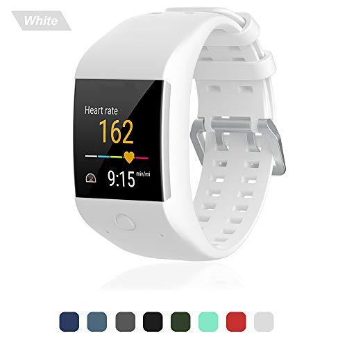 polar m600 silikon armband band ersatzarmband uhrenarmband uhrenarmbänder ersatzarmbände handschlaufe wechselarmband smartwatch zubehör, weiß