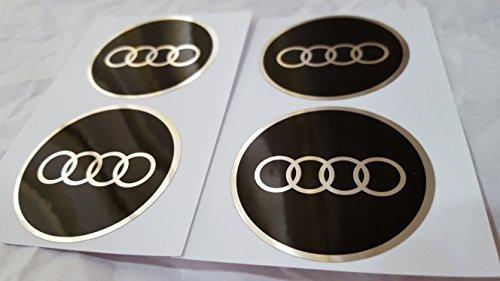 4x 65mm Durchmesser Sockel des Zentrum Radzylinder Audi Aufkleber Emblem selbstklebend für flache Oberflächen Billig