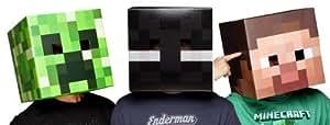 Officiel Minecraft, personnage Creeper Exclusive Steve & Enderman tête Masque de déguisement pour jeu d'enfant, enfant