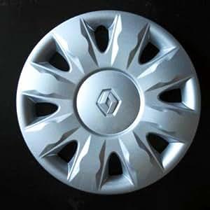 Jeu de 4 Enjoliveurs Neuf Pour Renault Clio 3 / Scenic 2 / Megane 2 / Megane 3 / Modus / Laguna 2 / Laguna 3 / Espace 4 / Vel Satis / Twingo 2 / Kangoo 2 Avec Roues Originales En 15 Pouces