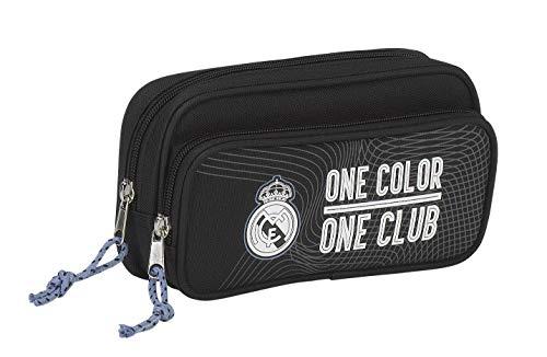 Real Madrid CF, Schlamper Federtasche (757), schwarz, 21 x 11 x 6 cm