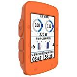 Prevently Brand Bright Color High Quality Silicon Slim Watch Case Cover For Garmin EDGE 520 Smartwatch GPS (Orange)