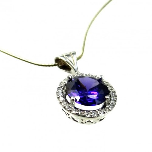 amethyst-pendant-925-silver-ladies-jewelry-kit-ace-and-snake-chain-45-cm