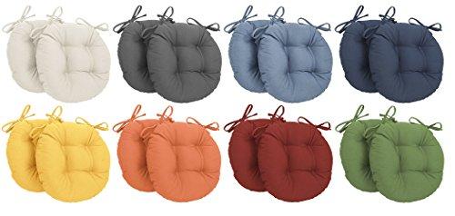 Cuscino rotondo con lacci (colore da scegliere con una mail)