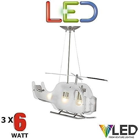 STS–Elicottero pendente da soffitto LED 3x 5,9,