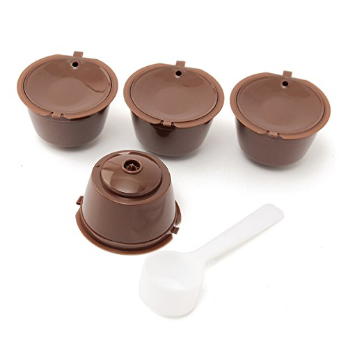 MYAMIA 5Pcs Set Wiederverwendbare Kaffeekapsel Tasse Kaffee-Filter Für Dolce Gusto Maschine...