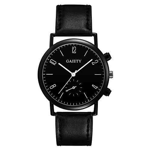 rainbabe Herren Uhren Herren Analog Quarz Armbanduhr Farbe Fake Monokular schwarz Rahmen Legierung Watch 24cm mit 3,6cm Fall