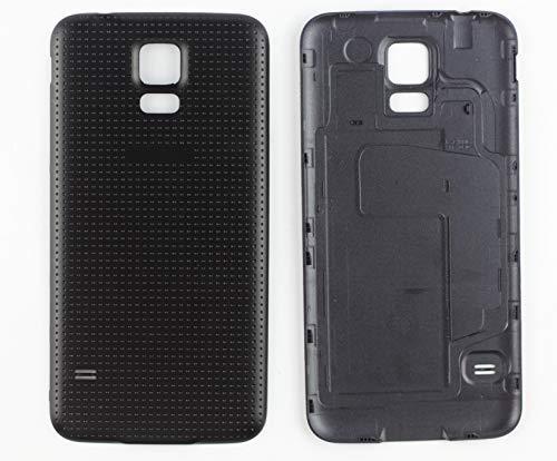 Nsiucion Samsung Galaxy S5Akkudeckel [mit Gummidichtung Wasserdicht Dichtung], Gehäuse Ersatz Back Cover für Samsung Galaxy S5I9600, Schwarz (S5 Back Cover-ersatz Galaxy)