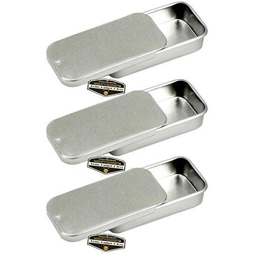 Mighty Gadget (R) Mini Größe leer Slide Deckel Survival Dose Behälter für Geocaching oder Survival Gear (3Pack)