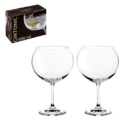 DonRegaloWeb - Set de 2 copas de cristal de bohemia para gin-tonic y d