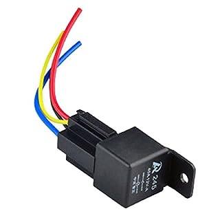 asdomo 112V 12Volt 40A Auto Automotive Relay Socket 40Amp 4Pin Relais Drähte