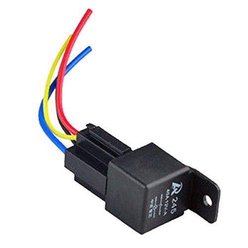Muitobom 1PCS 12V 12Volt 40a auto Automotive relay socket 40amp 4pin relè fili
