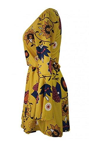 Mela Proibita Damen Schlauchkleid Kleid Gelb