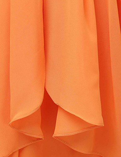 Sarahbridal Damen Mini Chiffon Ballkleid Herzenform Abendkleider Faltenrock Abschlussballkleider SSD247 Rosa