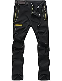 a0047ec13c6f SUKUTU Pantaloni da Trekking Outdoor da Uomo Softshell Pantaloni da Lavoro  da Arrampicata Impermeabili Traspiranti Pantaloni