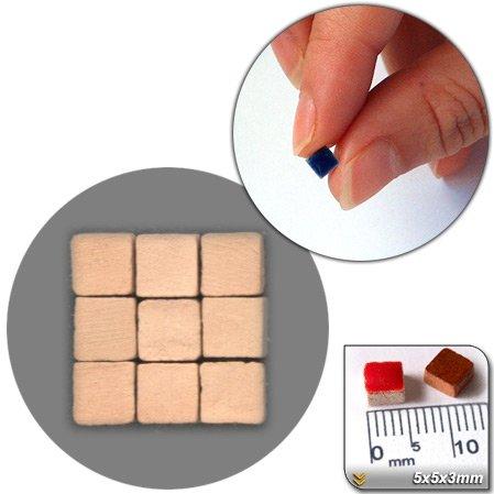 Mini Mosaïque (5x5x3mm), 1000 tesselles, Terracotta (crue), CN01