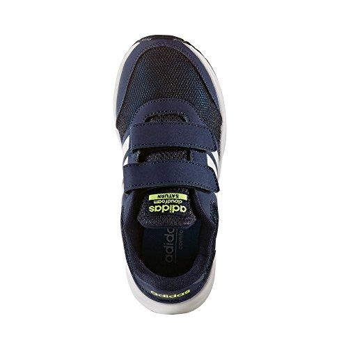adidas neo Cloudfoam Saturn Sneaker collegiate navy/white/solar yellow