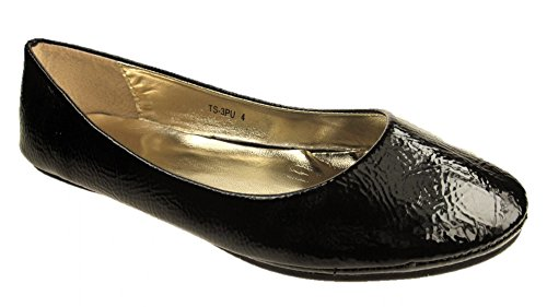 Ballerines Femme Cheraq Noir (cuir Verni Noir)