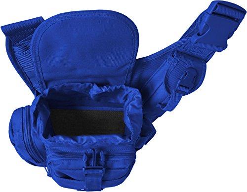Schulter-Umhängetasche mit Karabiner Blau