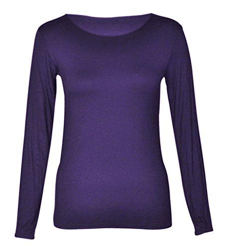 StyleStream -  Maglia a manica lunga  - Donna Purple