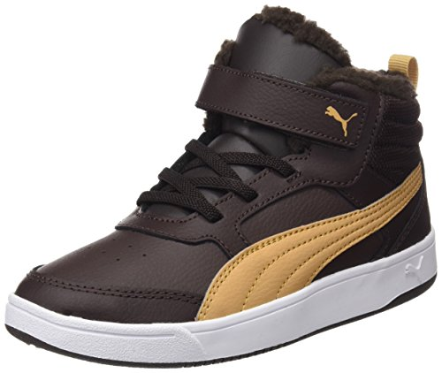 Puma Unisex-Kinder Rebound Street v2 fur V PS Sneaker, Braun (Black Coffee-Taffy), 33 EU (Leder-kinder-basketball)