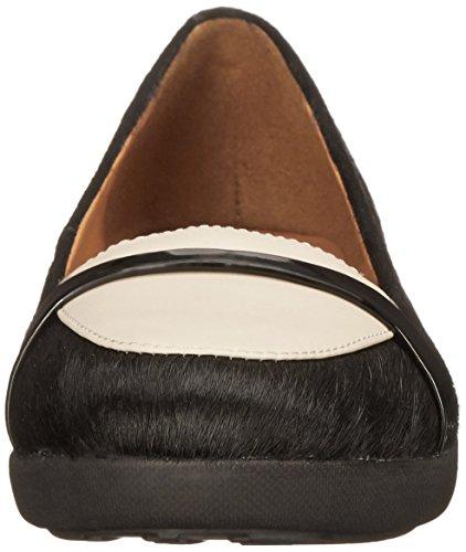 FF2 Par Fitflop Chaussures Mocassins F-pop Urbaine Blanc/noir UWB