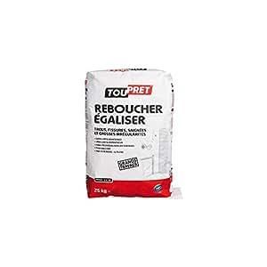 Toupret LSREB25 Reboucher - Egaliser Poudre 25 kg, Blanc