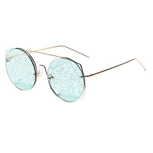PinkLu Gläser Damen Retro-Stil Paar Modelle Big Box Sonnenbrillen Schatten Pailletten Mode wild Urlaub am Meer Trend Sommer neuer heißer Verkauf 3-farbige Brille