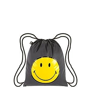 41hkesOTe1L. SS300  - LOQI Artist Reflective Smiley Backpack Mochila tipo casual, 44 cm, 10 liters, Multicolor (Multicolour)