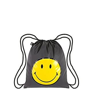 41hkesOTe1L. SS324  - LOQI Artist Reflective Smiley Backpack Mochila tipo casual, 44 cm, 10 liters, Multicolor (Multicolour)