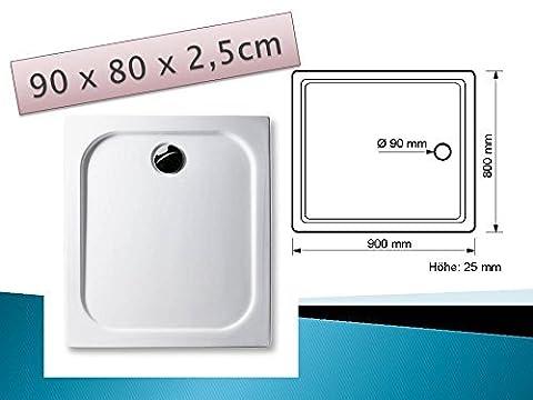 Douche 80 X 90 - Receveur de douche en acrylique 90x 80cm