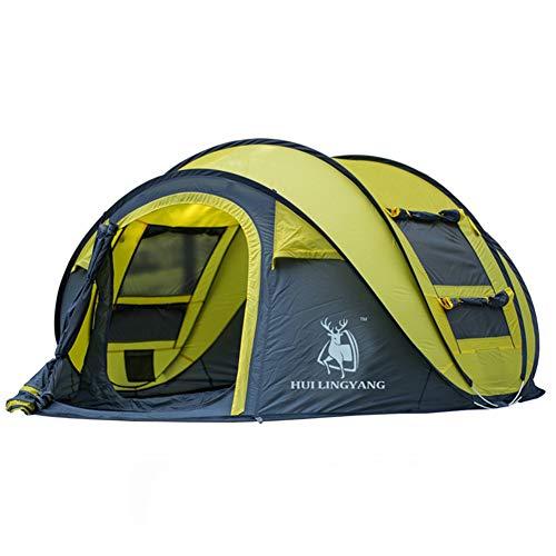 LHY TENTS Sofortige Pop-up-Zelte für große Familien, Campingzelt, Familien, tragbares, leicht aufstellbares, Festivalzelt mit erweiterter Belüftung für 3 bis 4 Personen
