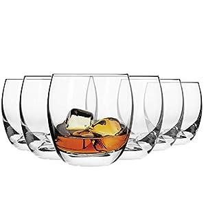 Krosno Whisky-Gläser | Set von 6 | 300 ML | Elite Kollektion | Perfekt für zu Hause, Restaurants und Partys | Spülmaschinenfest und Mikrowellengeeignet