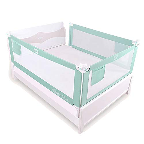 Bettgitter- Verstellbare Babybettschiene, Sicherheitsbettschutz for Kleinkinder bis zum Queen- und King-Size-Bett (Size : 1.5×2×2m) -