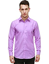 NIMEGH PURPLE COLORED COTTON CASUAL SOLID SHIRT FOR MEN'S