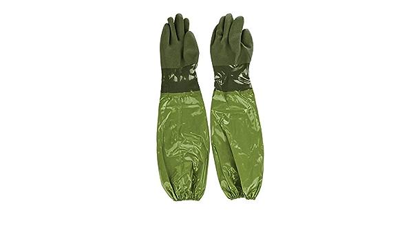 Rivanto Gartenhandschuh Teichhandschuhe lang Unterarmschutz Größe L wasserdicht