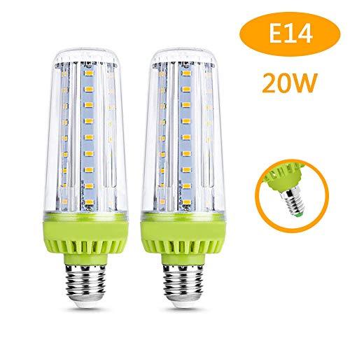 hlampe, LED Straßenbeleuchtung, 2000 Lumen Ersatz, 3000K Standard Sockel E14 Led Lampen, für Hauptküche Wohnzimmer Esszimmer Büro (2 PCS),WarmWhite ()
