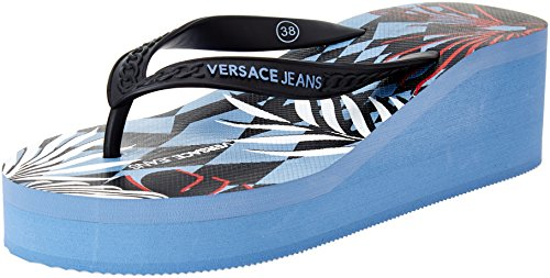 Versace Jeans Damen Ee0vrbsl2 Zehentrenner Multicolore (Multicolore Fantasia)