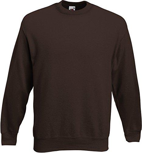 Fruit Of The Loom Unisex Premium 70/30 Sweatshirt (2XL) (Schokoladenbraun) F324N bestellen!! (Braun Sweatshirts Für Männer)