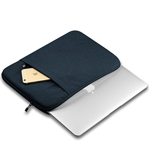 Baskety Laptop Sleeve Premium, Designer and Quality for Apple, Lenovo, HP, Dell Inspiron, Dell Laititude, Dell Vostro, Toshiba, Sony, Acer, Asus, Samsung, Fujitsu and other 15 Inch Laptop (DARK GRAY, DOUBLE POCKET)