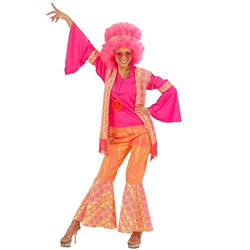 Hippie Summer Love Kostüm (Widmann 57742 - Erwachsenenkostüm Hippiefrau, Bluse, Weste, Hose und Stirnband,)