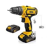 Akku-Bohrschrauber Akkuschrauber Schrauber Vito 14,4V 2AkkuS Lithium 2.0Ah Schnell-Ladegerät 1h LED und Batterieanzeige