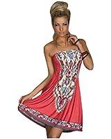 Kurze Trägerlosen Kleid Yolanda