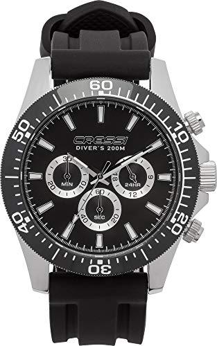 Cressi Nereus Watch Montre analogique Quartz Sport étanche 200 m avec chronographe Mixte
