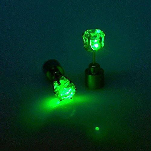 Sixlus LED Ohrringe Leuchtende Ohrringe Ohrringe rot Leuchtende Ohrringe mit Licht