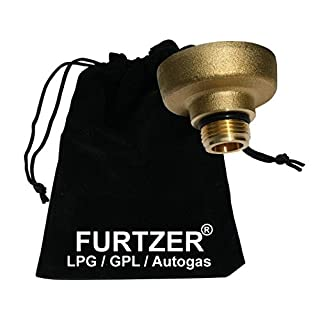 Furtzer LPG GPL Autogas Tankadapter M22 (1 3/4' X W21.8) Dish kurz Adapter mit Stoffbeutel by