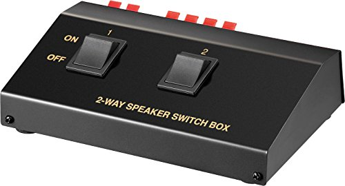 Goobay Lautsprecher-Umschaltbox bis 2 Lautsprecher