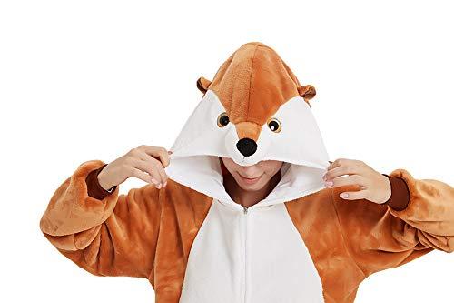 Bathrooms Damen Herren Jumpsuit Overall Fasching Tier Einhorn Kostüm Fasching Anime Cosplay Halloween Karneval Kostüm Pyjama Schlafanzug,XL